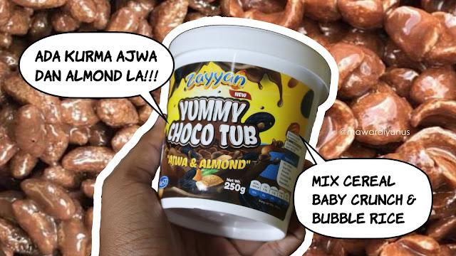 Yummy Choco Tub ; Ada Kurma Ajwa & Almond