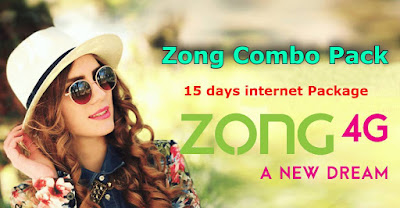 Zong Combo Pack for 15 days internet Package
