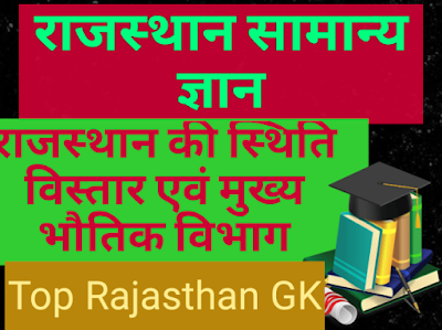 राजस्थान की स्थिति, विस्तार एवं मुख्य भौतिक विभाग
