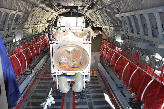 Leonardo conducts tests to integrate A.T.ISOL biocontainment system into C-27J