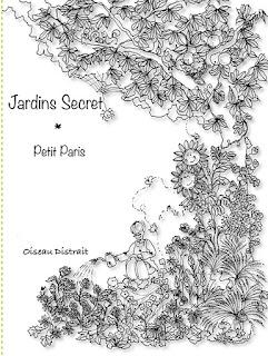 New release of Jardins Secret book cover by Oiseau Distrait
