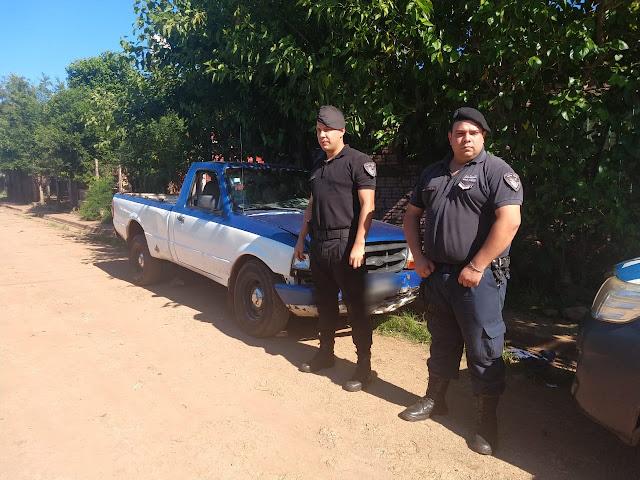 GARUPÁ -  Policías recuperaron una camioneta robada en Posadas