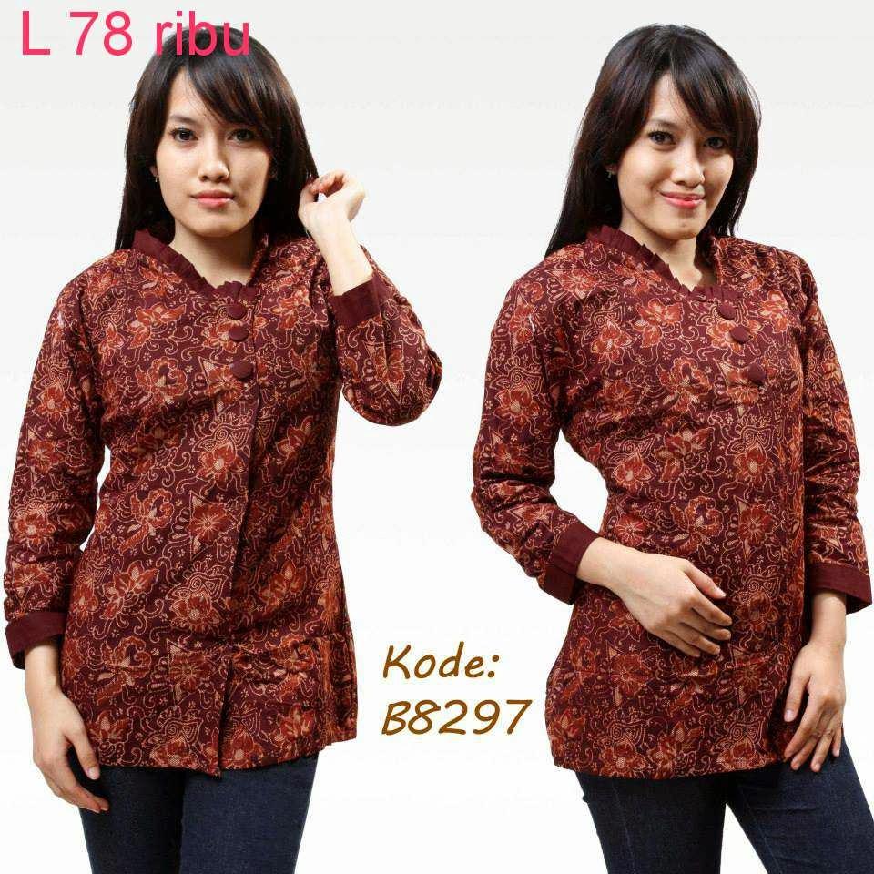 Macam Model Baju Batik: Macam-Macam Model Baju Batik Wanita