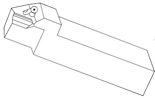 tipped type single point cutting tool