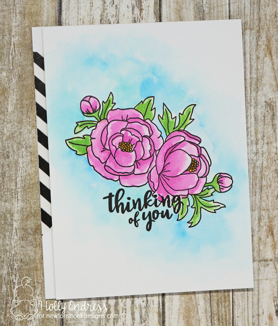 Floral Thinking of You Card by Holly Endress | Peony Blooms Stamp Set by Newton's Nook Designs #newtonsnook #handmade