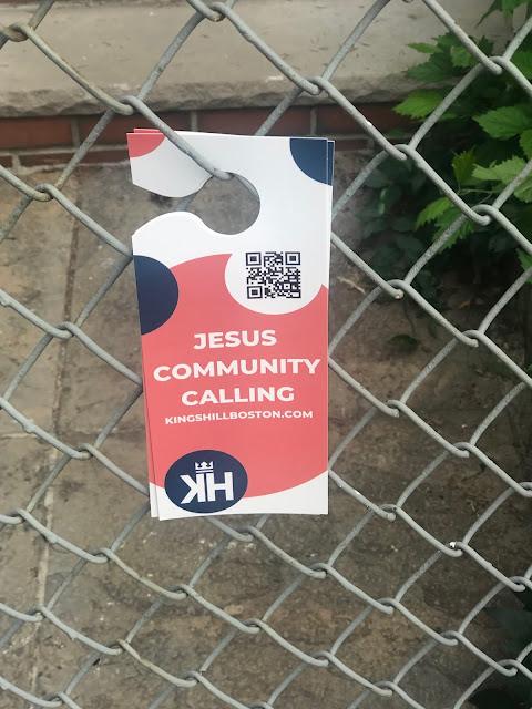 "Flyer: ""Jesus Community Calling, kingshillboston.com"""
