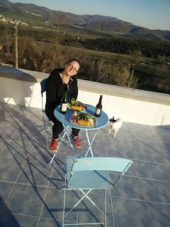 Dinner on the roof terrace