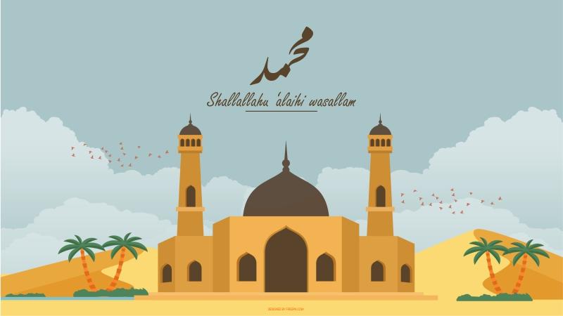 alaihi wasallam dilahirkan di tengah keluarga Bani Hasyim di Makkah pada Senin pagi KELAHIRAN DAN EMPAT PULUH TAHUN SEBELUM NUBUWAH