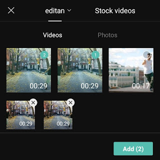add two videos with the same background