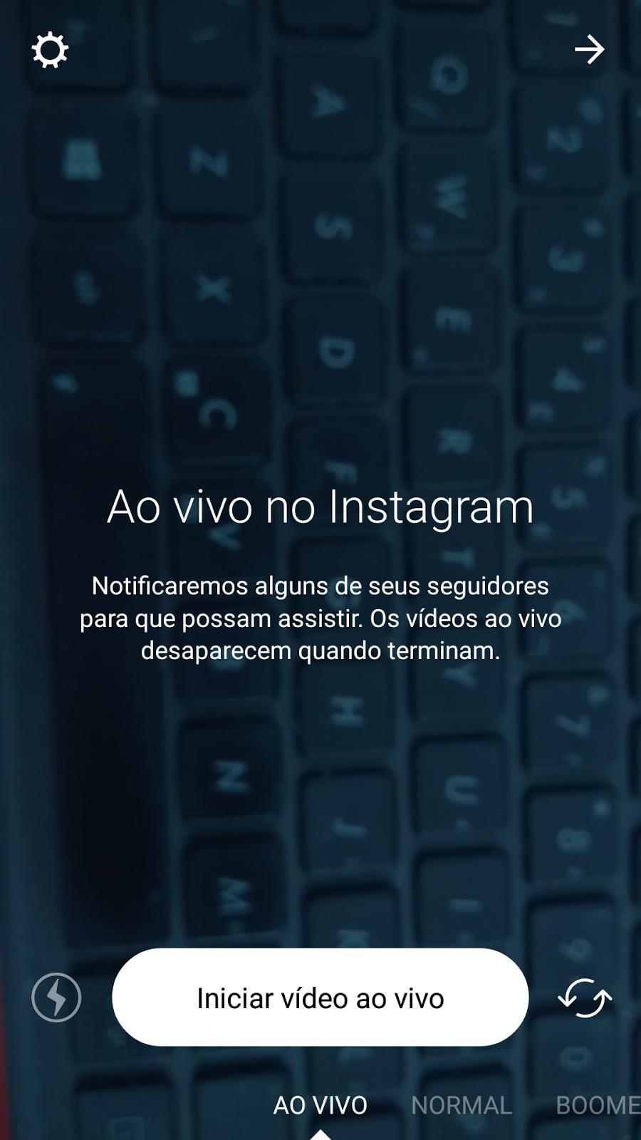 Live, ao vivo instagram