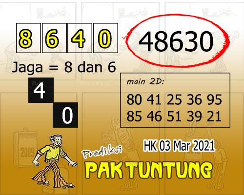 Syair HK Rabu 03 Maret 2021 -