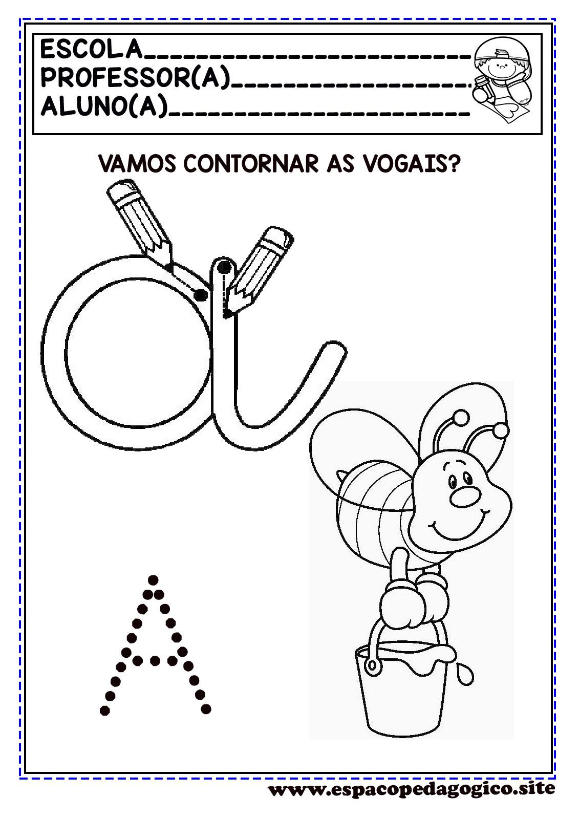 Atividades Com As Vogais Lindas Para Imprimir Espaco Pedagogico