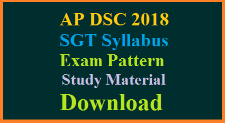 ap-dsc-2018-sgt-syllabus-exam-pattern-weightage-marks-content-methods-material