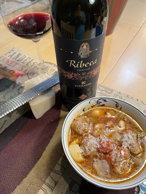 sausage stew with Firriato Ribeca Perricone