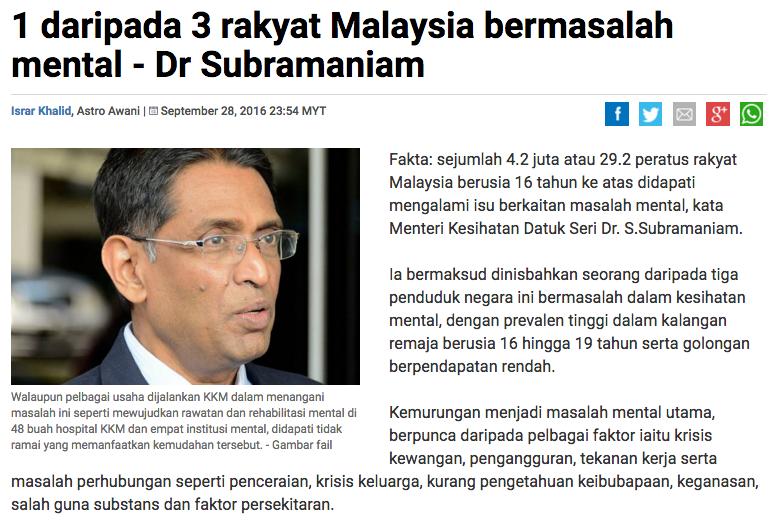 YONG SUKA KUNING SEBENARNYA BERAPA RAMAI RAKYAT MALAYSIA YANG SAKIT MENTAL NI