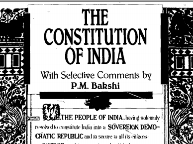 The Constitution of India PDF Book by PM Bakshi   Download