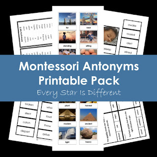 Montessori Antonyms Printable Pack