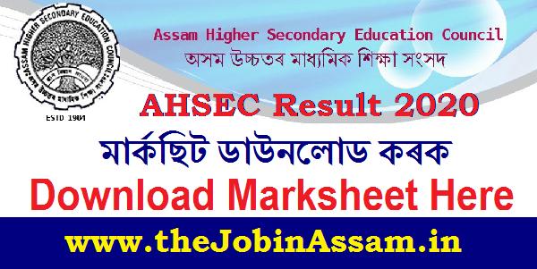 AHSEC Result 2020: Download Your Marksheet Here