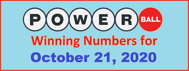 PowerBall Winning Numbers for Wednesday, October 21, 2020