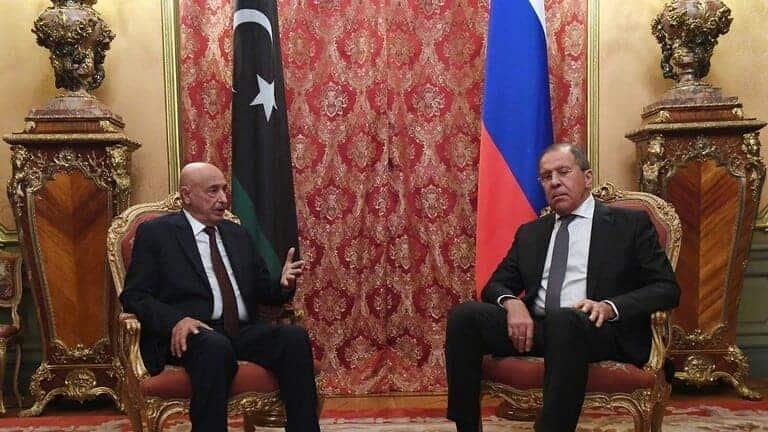 لافروف-وعقيلة-صالح-يؤكدان-عدم-وجود-حل-عسكري-للأزمة-الليبية