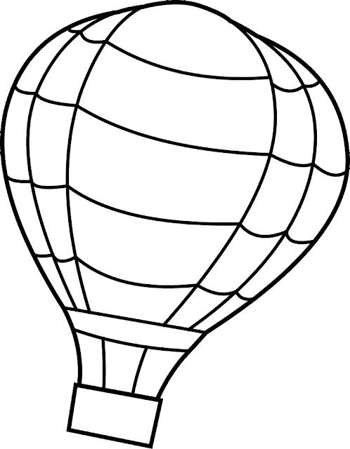 Gambar Mewarnai Balon Udara - 2