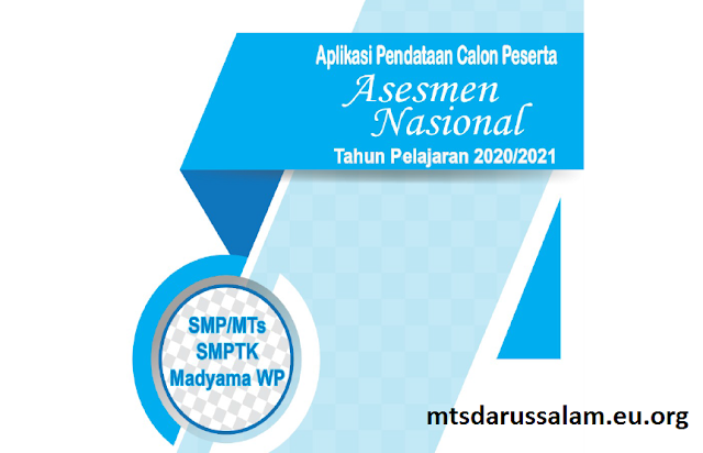 Panduan Aplikasi Pendataan Calon Peserta Asesmen Nasional Tapel 2020/2021