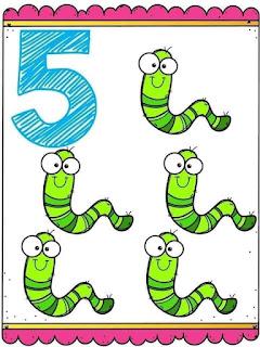 fichas de números del 1 al 10 para imprimir a color