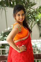 Lasya Cute Beauty in Saree Backless Choli at her Interview ~  Exclusive 074.JPG