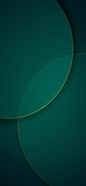 MIUI 11 Stock Wallpaper Green Circle