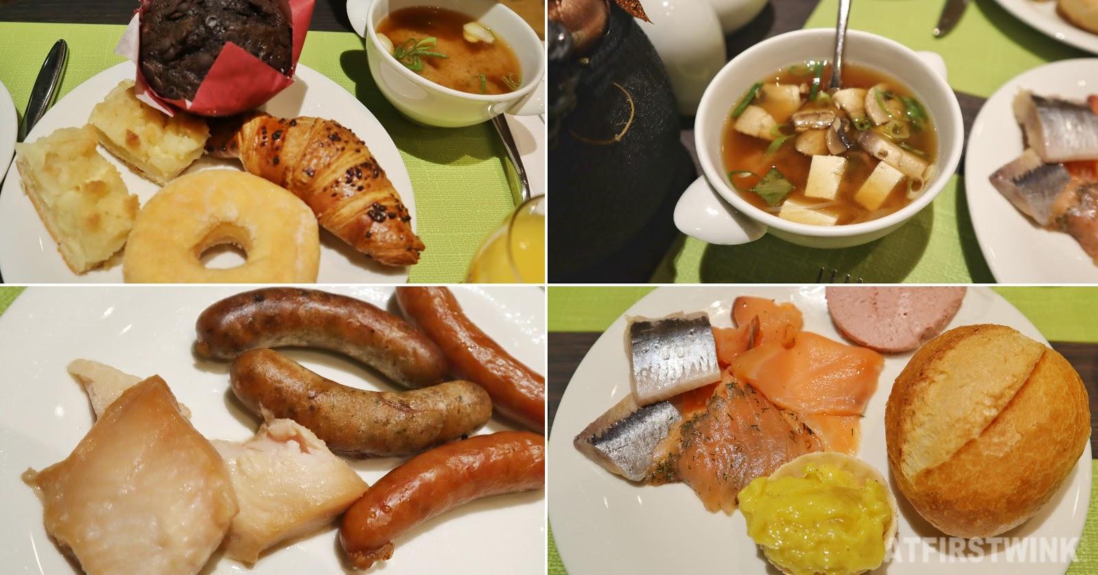 Hotel nikko breakfast buffet pastries miso soup fish