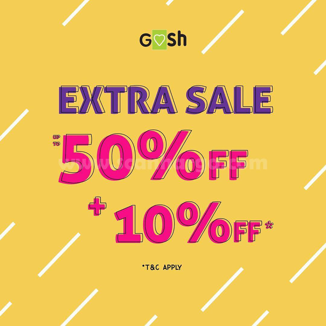 Promo GOSH SHOES Extra Big Sale Discount 50% + 10% OFF!