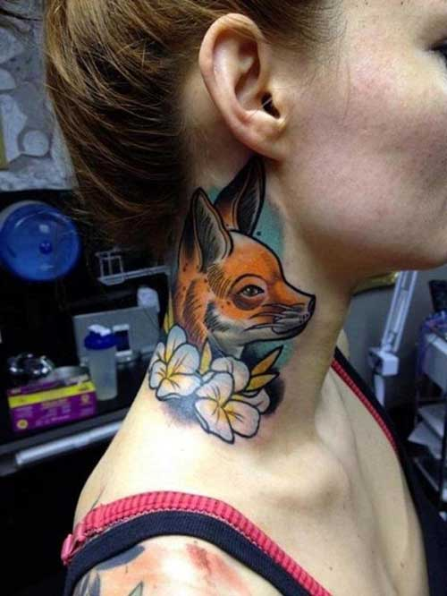 foxy neck tattoo