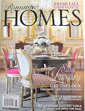 This blog was featured in the October 2012 Issue of Romantic Homes....