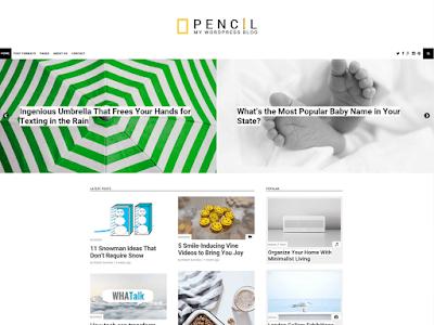 Pencil Free Magazine Wordpress Theme