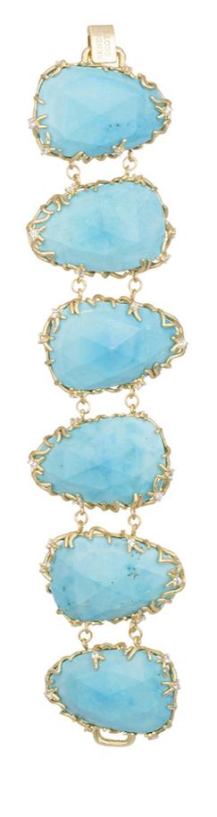 Kendra Scott Branch-Bezel Turquoise Bracelet
