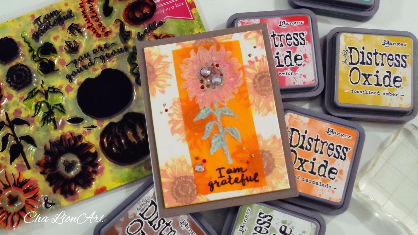 7,6 x 7,6 cm Naranja Ranger Tim Holtz Tinta Distress Oxide Dried Marigold