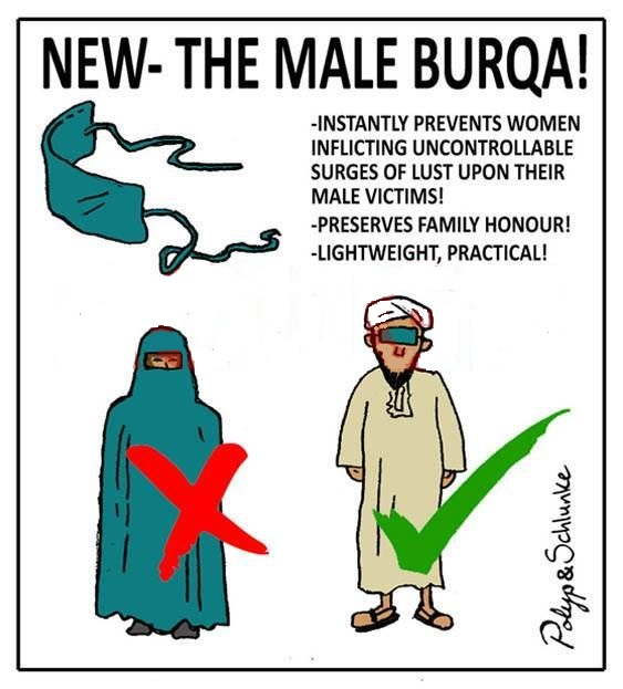 New - the male burqa funny Islamic picture