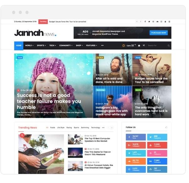 Jannah – Newspaper Magazine Theme Free Download by Helpbn