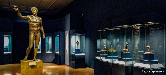 Peças do naufrágio de Antikythera, Museu Nacional de Arqueologia de Atenas, Grécia