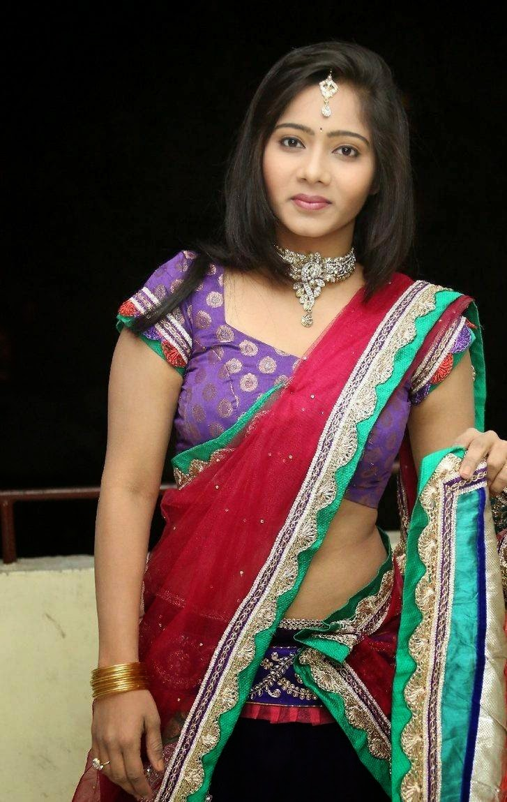 Actress Mithra Latest Cute Hot Transparent Half Saree Navel Show Spicy Photos Gallery At Tholi Sandhya Velalo Movie Trailer Launch