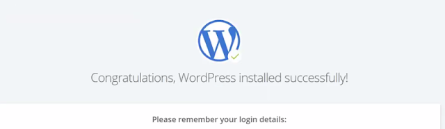 WordPress Installed on Bluehost
