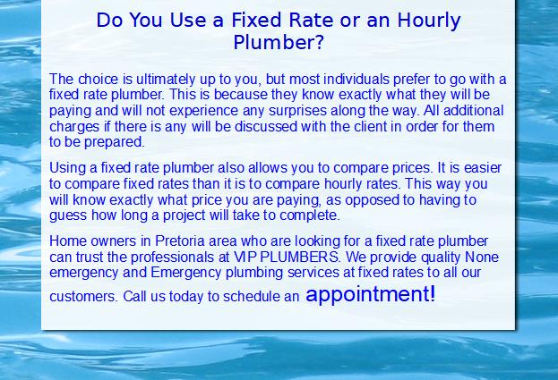 Affordable Plumbers, Geyser Plumbing, Plumbing Rates