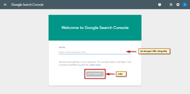 Cara Setting Google Search Console