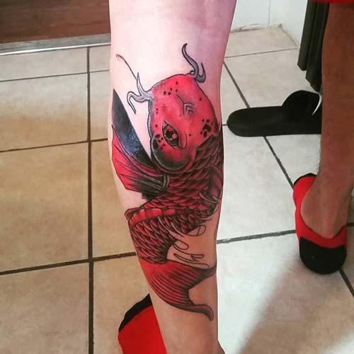 calf koi fish tattoos koi balığı dövmeleri