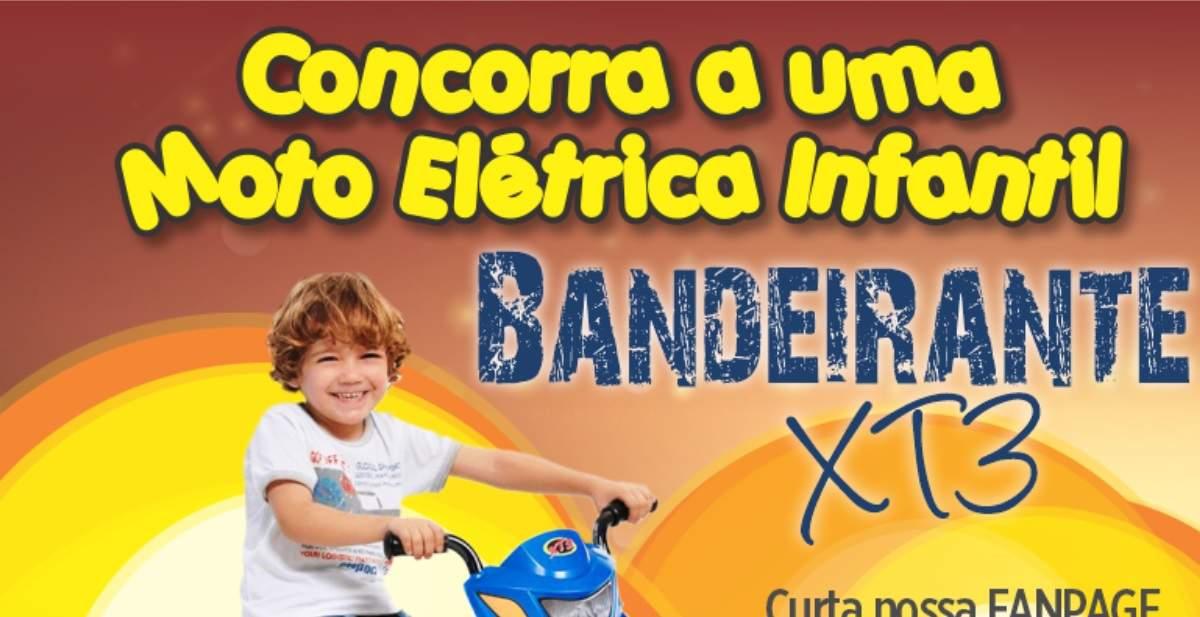 Promoção União Supermercados Dia das Crianças 2019 Moto Elétrica Infantil Bandeirante
