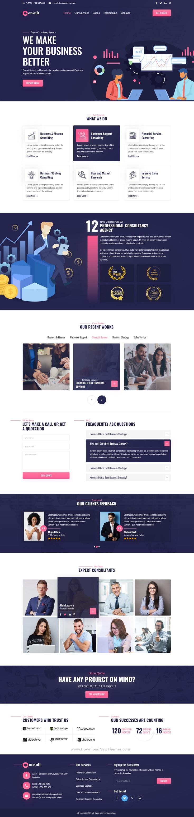 Consultancy Agency XD Template