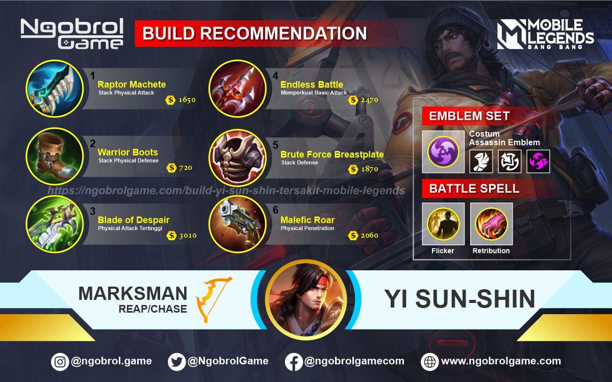 Build Yi Sun Shin Tersakit 2021 Mobile Legends