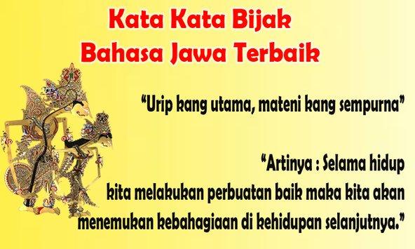Kata Kata Bijak Orang Sabar Bahasa Jawa