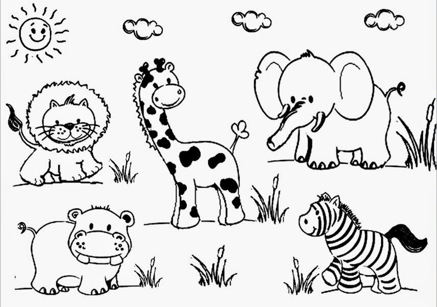 Dibujos Animales Salvajes Para Colorear E Imprimir: Recursos Para Educación Inicial: DIBUJOS DE ANIMALES PARA