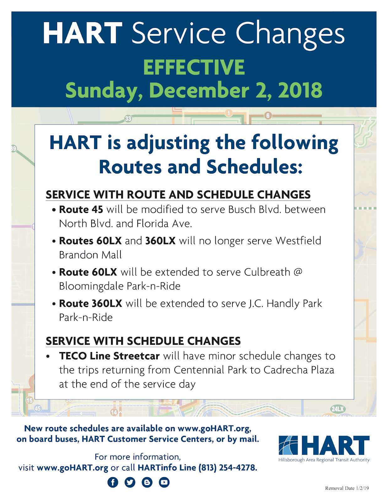 in transit - the official hart transit blog: hart service changes go